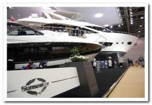 London Boat Show Sunseeker stand