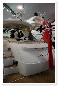 London Boat Show Sunseeker San Remo